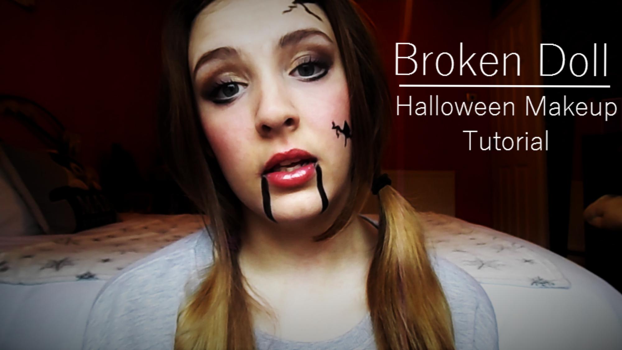 Broken doll halloween makeup tutorial organic by nerve broken doll halloween makeup tutorial baditri Image collections