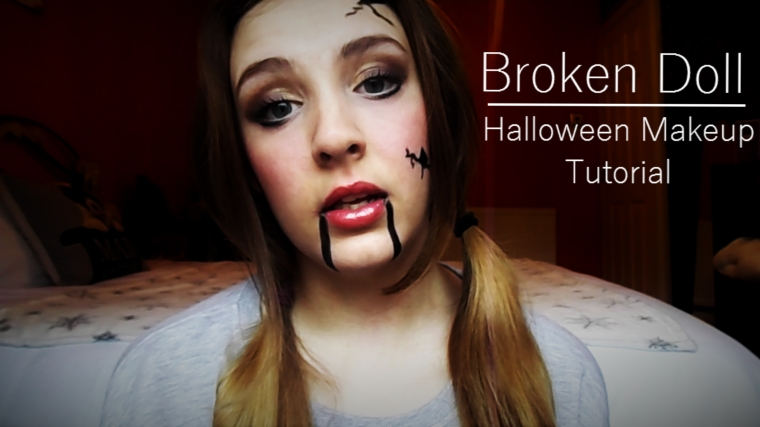 Broken Doll Halloween Makeup Tutorial